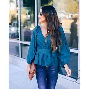 NWT Vici Beautiful Time of The Year Wrap Top Jade